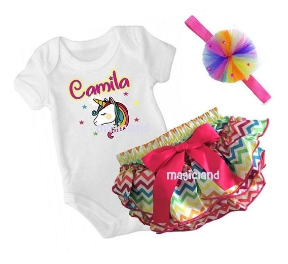 Bloomer C/ Pañalero Personalizado Conjunto De Bebé