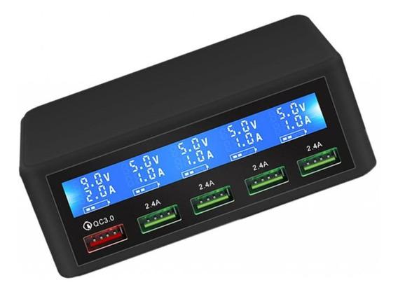 Qc3.0 Smart 5 Portas Usb Telefone Carregamento Rápido Power