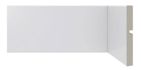 Zocalo Sustentable Alto 10cm Moderno Diseño Recto Blanco