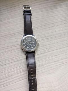 Relógio Fóssil Pulseira De Couro