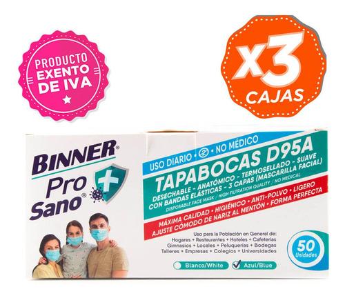 Imagen 1 de 1 de Promo 3 Cajas De Tapabocas D95a Para Uso Diario No Médico