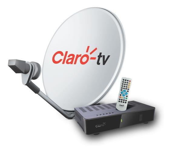Kit Hd Claro Tv Pré-pago: Receptor + Antena + Kit Instalação