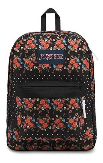 Mochila Jansport Superbreak, Floral Dot - Comprada En Usa