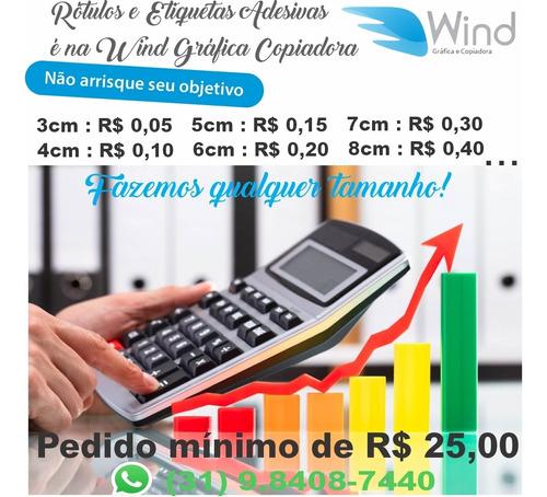 Imagem 1 de 2 de Rótulos E Adesivos Em Vinil  A Partir De R$ 0,05 A Unidade