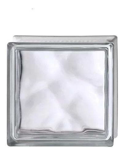 Imagen 1 de 9 de Ladrillo De Vidrio  Modelo Wave Precio Unitario Por Caja