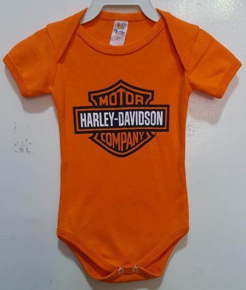 Body Harley Davidson Infantil - Bebê Motociclismo Ropapreta