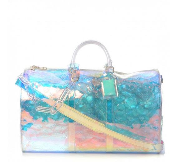 Mala Keepall Prism 50 Monogram Bandouliere Louis Vuitton Premium Top Com Código Série Acompanha Alça E Dust Bag 24 Hr