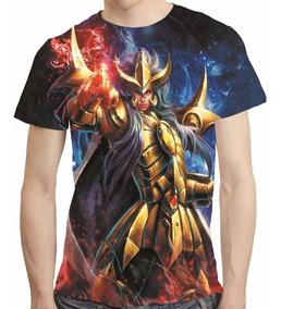 Camisa Cavaleiros Do Zodiaco Camiseta Milo De Escorpião Hd