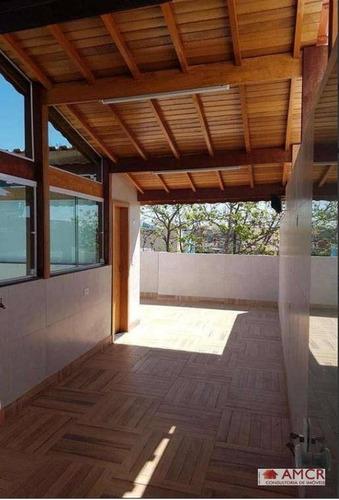 Cobertura Com 2 Dormitórios À Venda, 80 M² Por R$ 280.000 - Santo André/sp - Co0016