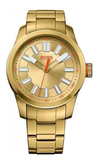 Relógio Masculino Hugo Boss 1512992 Dourado Original