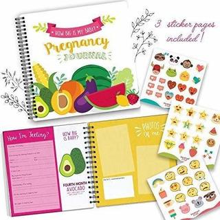 Embarazo Diario Y El Bebe Libro De Memoria Con Pegatinas Reg