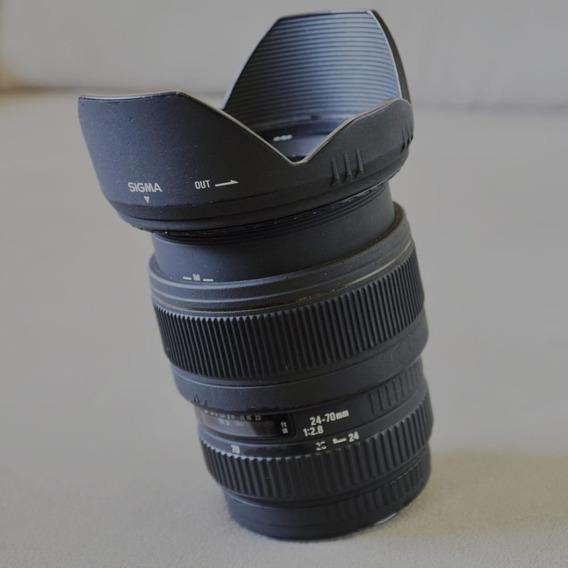 Lente Sigma 24-70 F2.8 Canon