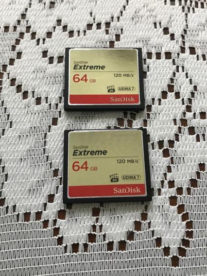 Cartão De Memoria Cf Compact Flash 64 Gb 120 Mb/s Sandisk