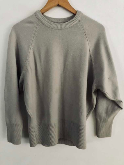 Sweater Cuello Redondo Color Beige Talle M