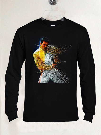 Queen Freddie Mercury Fade Out Manga Larga Rock Abominatron