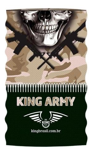 Imagem 1 de 1 de Bandana Ou Buff King Brasil Com Proteção Uv - Army 301
