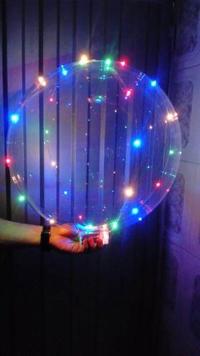 Luz Led Globos Burbuja Personalizar Transparente Aprox 45cm