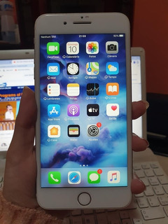iPhone 7 Plus 128gb Prata Em Excelente Estado