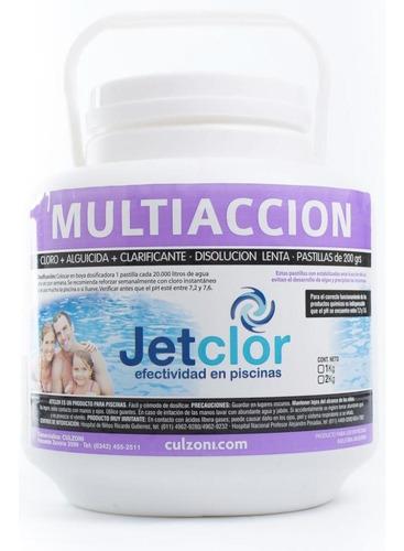 Imagen 1 de 3 de Pastillas De Cloro Multiaccion Jetclor 200 Grs Por 1 Kilo