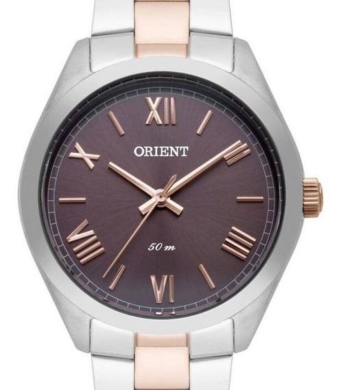 Relógio Orient Feminino Prata / Rose Ftss0063 M3sr