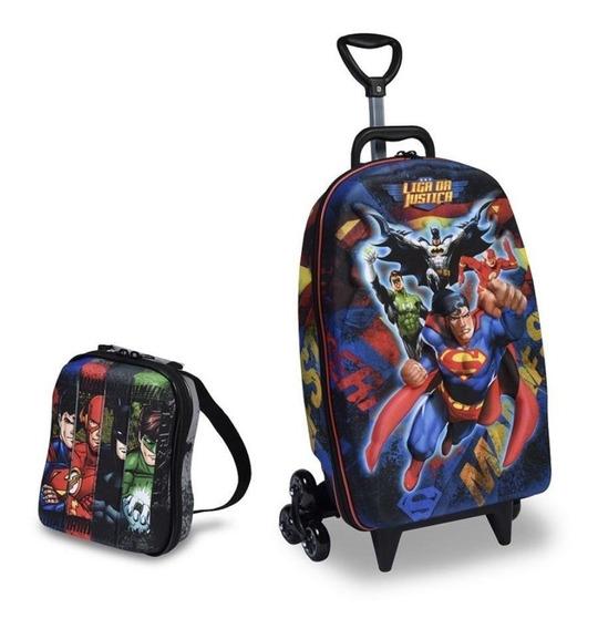 Mochilete Super Man Lancheira Liga Da Justiça Super Homem