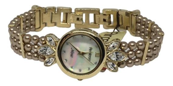 Reloj Armitron Now Ext Metalico Dorado Importado Oferta