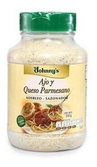2 Ajo Y Queso Parmesano. Aderezo-sazonador. Jhonny´s 510 Gms