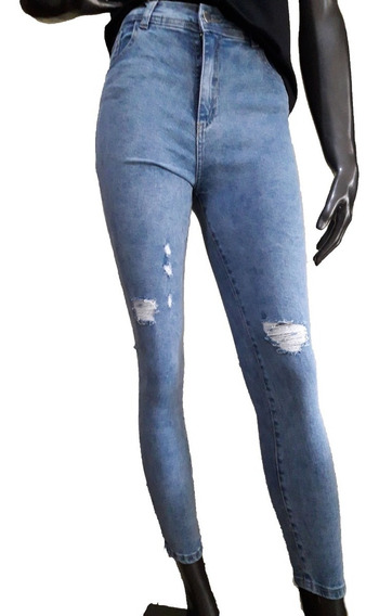 Espectacular Jeans Denim Tiro Alto Calce Perfecto Talle 40