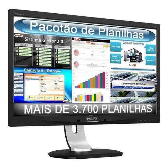 3.700 Planilhas Excel E Vba Editáveis Profissionais + Brinde
