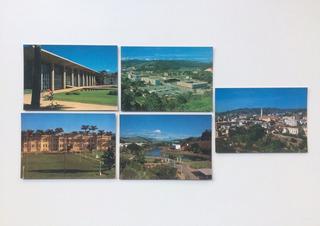 Cinco Cartões Postais Não Usados Viçosa Mg 1982