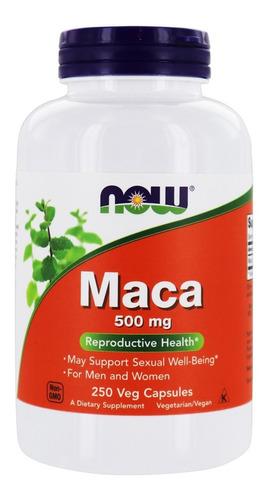 Imagem 1 de 1 de Maca Peruana 250cps Vegano 500mg Now Foods - Importada