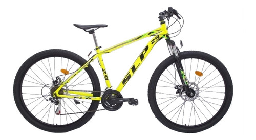 """Mountain bike SLP 5 Pro R29 18"""" 21v frenos de disco mecánico cambios SLP color amarillo"""