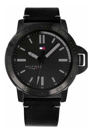 Reloj Tommy Hilfiger Color Negro Para Hombre