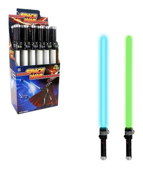 Kit 3 Espadas Sabre Star Wars Espacial+pilhas C/ Luz E Som