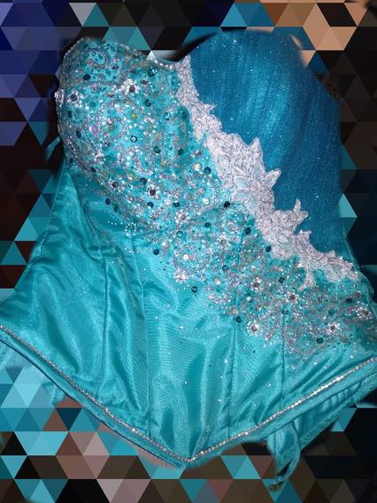 Vestido De Xv Años Verde Jade Corte Princesa