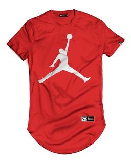 Camiseta Masculina Longline Jordan Camisa Blusas Manga Curta