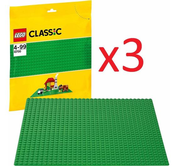 Lego Classic Kit Com 3 Placas Bases Lego Cores