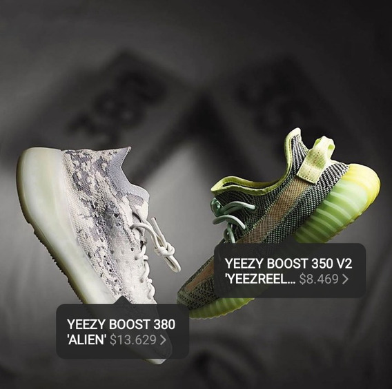 Yeezy Boost 380 Alien $13,629350 V2 Yeezreel $8,469