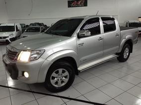 Toyota Hilux Dupla Srv 2013 Prata Flex 4x4 Autom Top Acess
