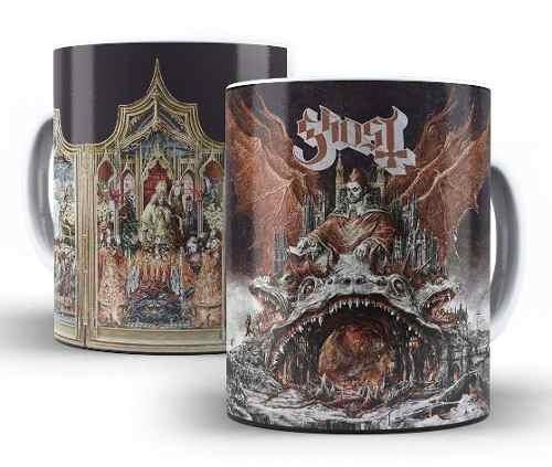 Caneca De Cerâmica Branca Banda Ghost Prequelle Novo Album