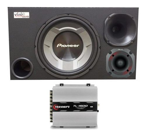Caixa Trio Pioneer Ts-w3060br 12 + Hdi300 + 5hi300 + Módulo