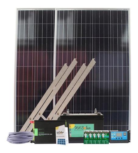 Kit Solar Completo 1500w Onda Pura Con 2 Paneles De 160w K10