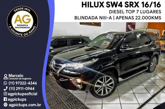 Toyota Hilux Sw4 Srx Blindada N Iii-a 2.8 Die Top 22000 Km