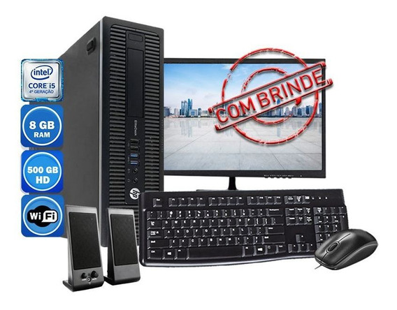 Computador Pc Completo Hp Intel I5 8gb Hd 500gb Wi-fi