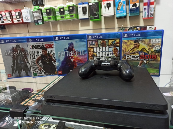 Ps4 Playstation 4 + 5 Jogos E Um Controle