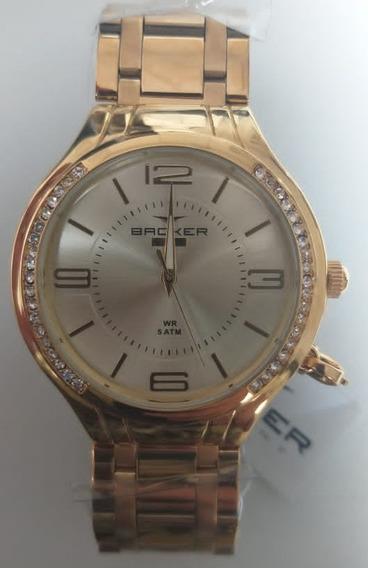 Relógio Backer Feminino Gluck 10602145f Ch Original Barato