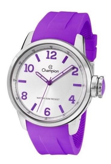 Relógio Champion Trendy Lilás Cn29758l Garantia E Embalagem