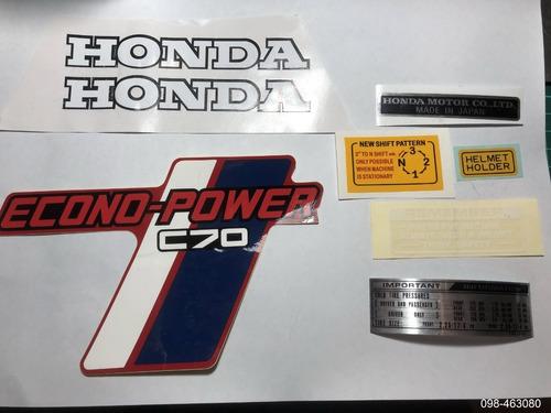 Imagen 1 de 1 de Kit Emblemas Honda 70 (para Color Rojo)
