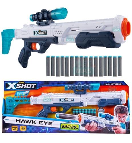 Pistola Escopeta X Shot Hawk Eye - Rifle De Juguete P/ Niños