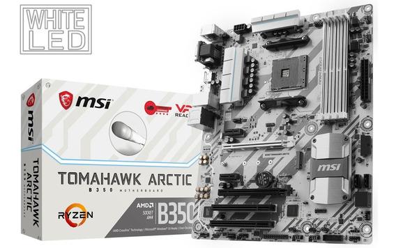 Placa Mae B350 Tomahawk Artic Msi - Bios Atualizada
